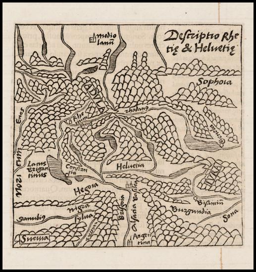 81-Switzerland Map By Caius Julius Solinus