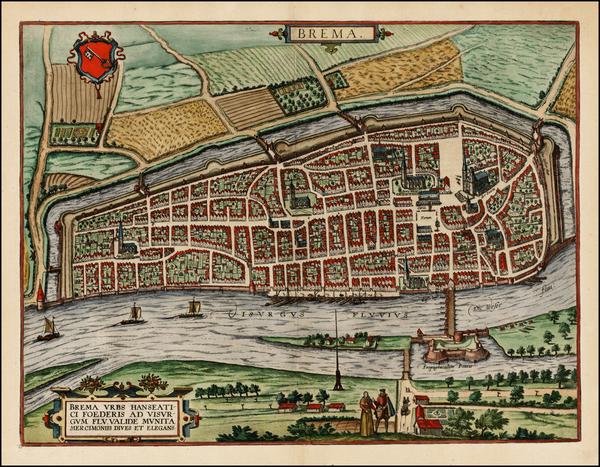96-Germany Map By Georg Braun / Frans Hogenberg
