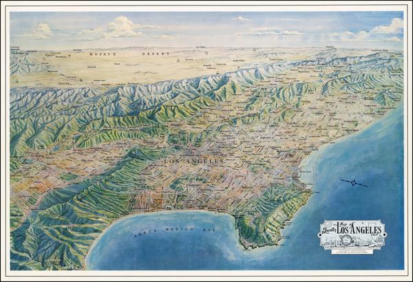 46-California Map By Jack H. Moffett