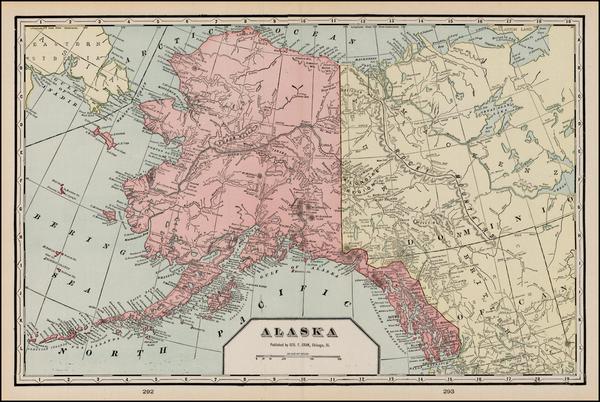 33-Alaska Map By George F. Cram