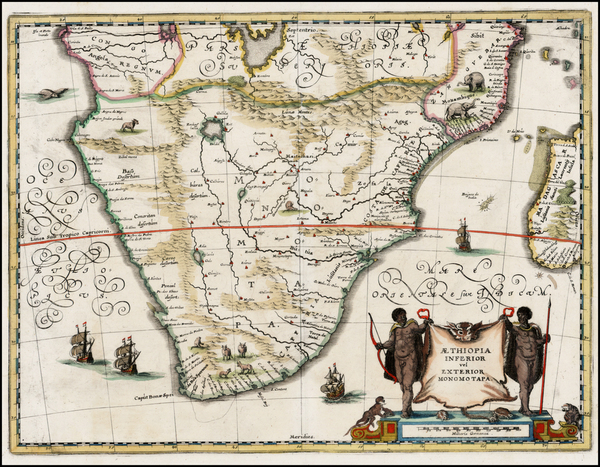 6-South Africa, East Africa and African Islands, including Madagascar Map By Matthaus Merian