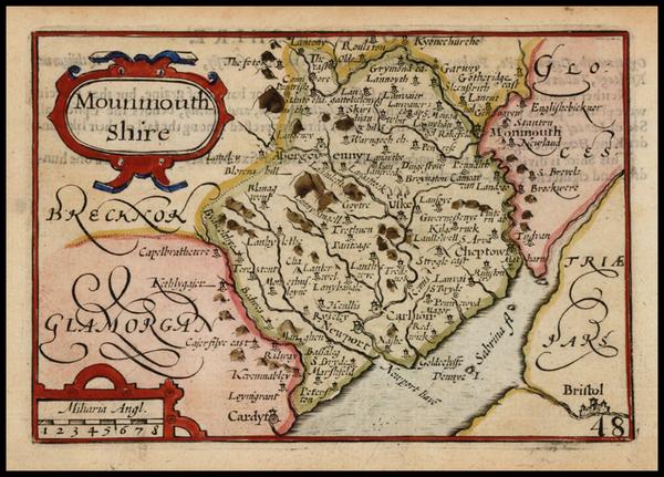 74-Wales Map By John Speed