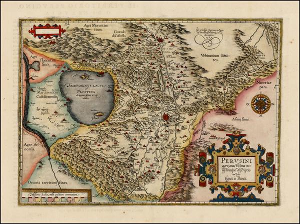 71-Italy Map By Abraham Ortelius