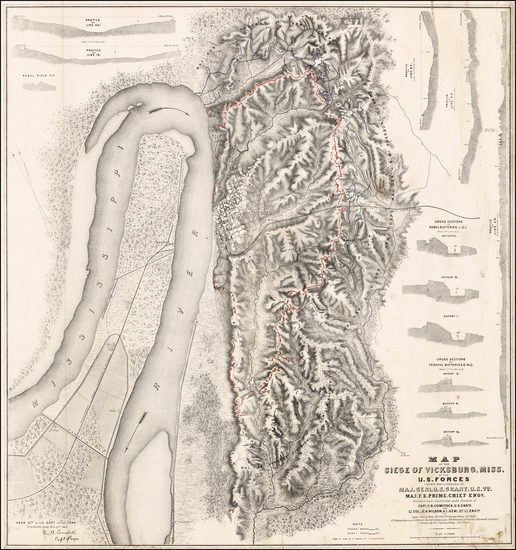 5-Mississippi Map By United States Bureau of Topographical Engineers