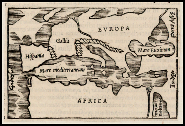 8-Europe, Europe and North Africa Map By Caius Julius Solinus