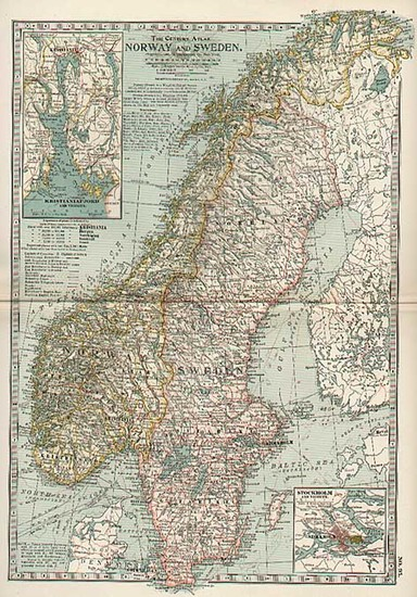 54-Europe and Scandinavia Map By The Century Company
