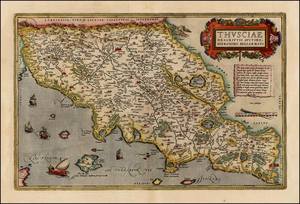 38-Italy Map By Abraham Ortelius