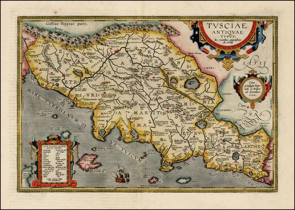 76-Italy Map By Abraham Ortelius