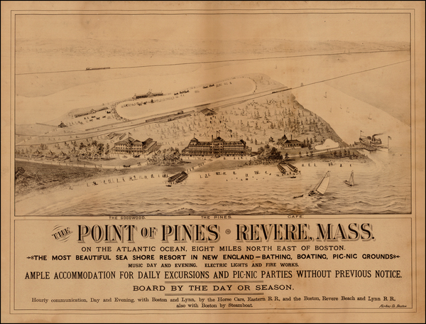 17-New England and Massachusetts Map By Forbes & Co.
