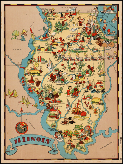 73-Midwest Map By Ruth Taylor White