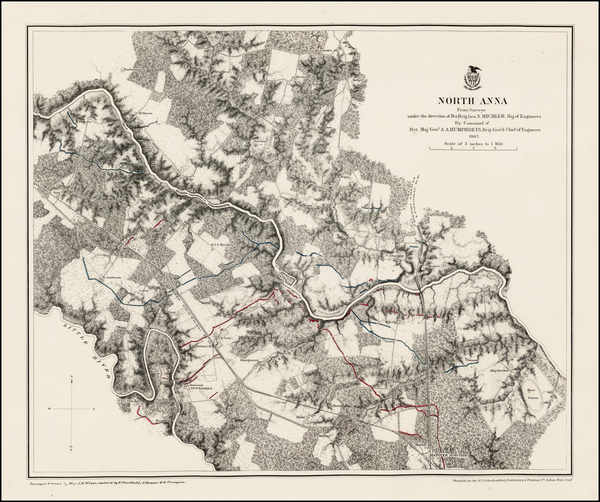 92-Virginia and Civil War Map By United States War Dept.