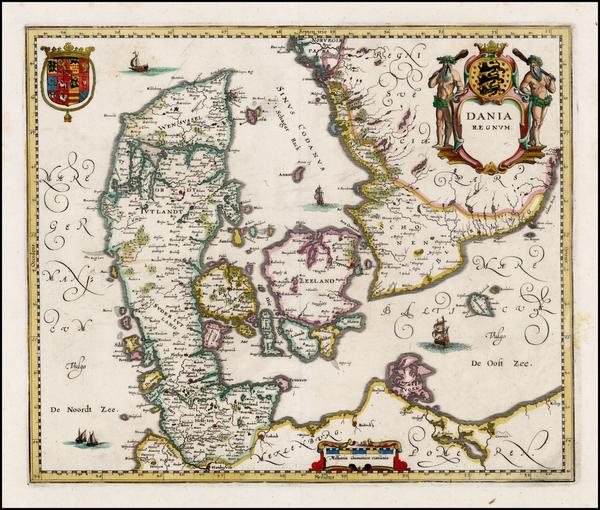91-Scandinavia Map By Matthaus Merian