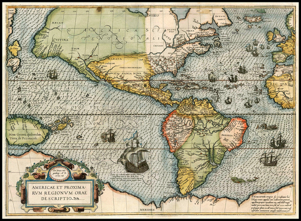 5-South America and America Map By Frans Hogenberg