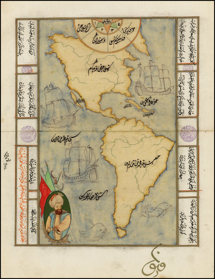 78-Western Hemisphere, North America, South America and America Map By Anonymous