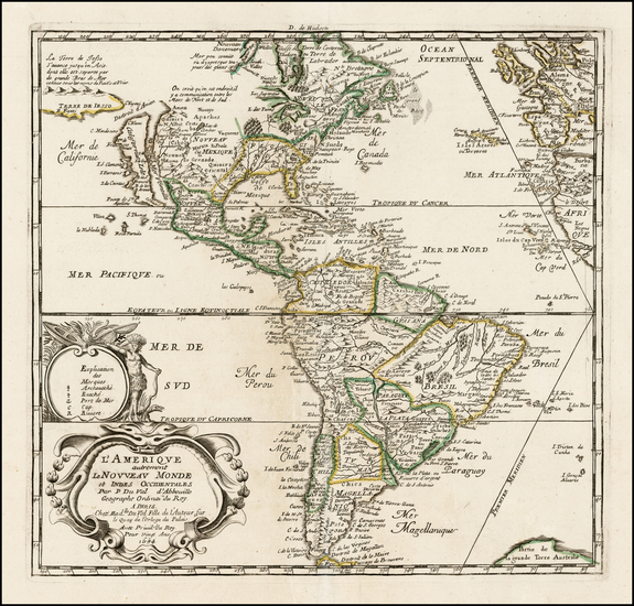 0-South America and America Map By Pierre Du Val