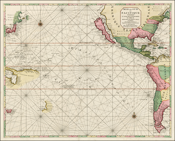 67-South America, Pacific, Australia, New Zealand, California and America Map By Pieter Mortier