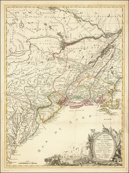 44-United States, New England and Mid-Atlantic Map By J.B. Eliot / Louis Joseph Mondhare