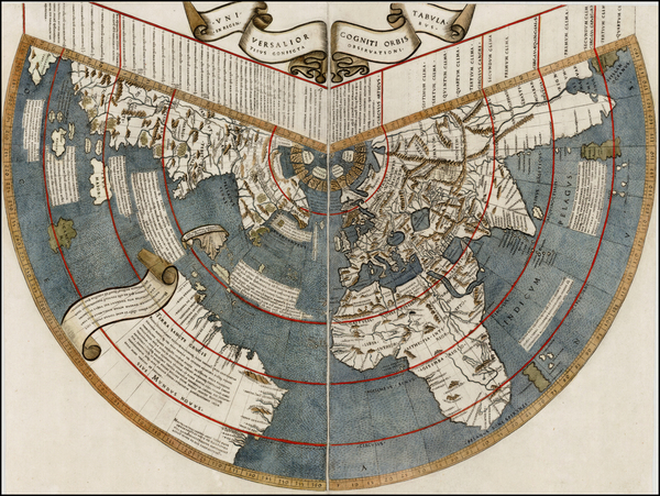 30-World, World, South America and America Map By Johannes Ruysch