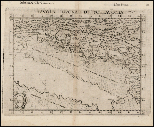 30-Balkans and Italy Map By Girolamo Ruscelli