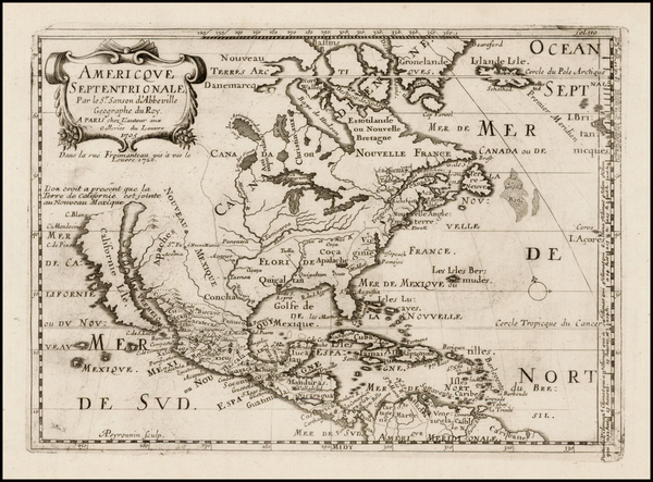 9-Texas, Midwest, Plains, Southwest, North America and California Map By Pierre Moullart Sanson
