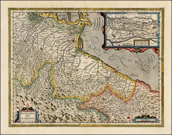 25-Italy Map By Abraham Ortelius