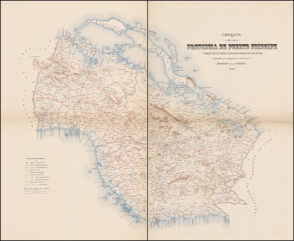 41-Cuba Map By Deposito de la Guerra