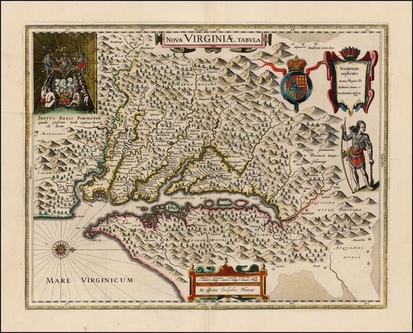 52-Mid-Atlantic and Southeast Map By Willem Janszoon Blaeu