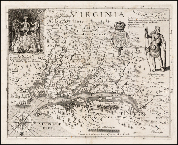 42-Mid-Atlantic, South and Southeast Map By John Smith