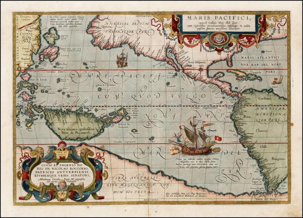 71-Western Hemisphere, Polar Maps, South America, Japan, Pacific, Australia, Oceania and America M