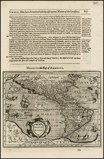 79-Western Hemisphere, South America and America Map By Jodocus Hondius -  Gerard Mercator