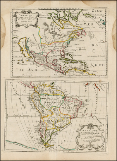 83-Texas, Midwest, Plains, Southwest, North America, South America and California Map By Pierre Mo