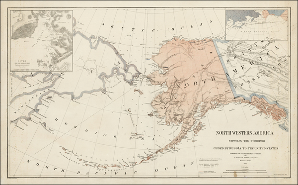 37-Alaska and Canada Map By Adolph Lindenkohl