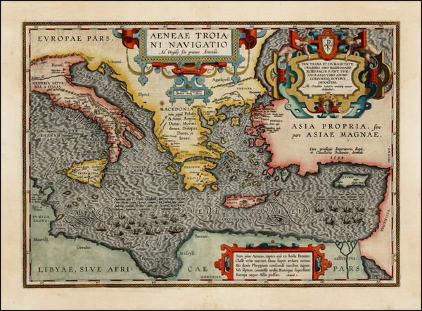5-Italy, Greece, Turkey, Mediterranean, Balearic Islands and Turkey & Asia Minor Map By Abrah