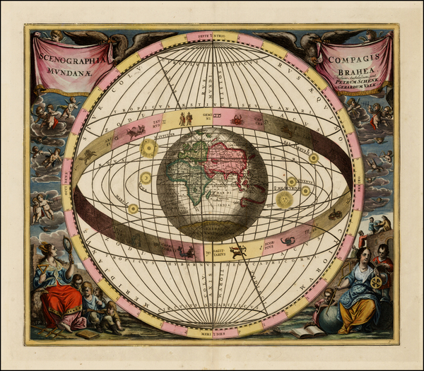 27-World, Eastern Hemisphere, Curiosities and Celestial Maps Map By Andreas Cellarius  &  Gera