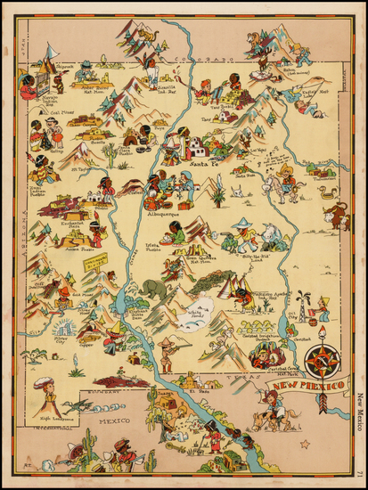 Southwest and New Mexico Map By Ruth Taylor White