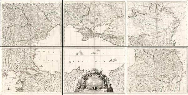8-Russia, Ukraine, Hungary, Romania, Balkans and Turkey & Asia Minor Map By Giovanni Antonio