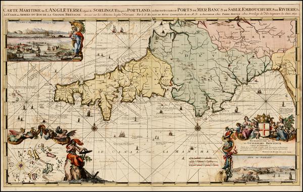 97-England Map By Romeyn De Hooghe