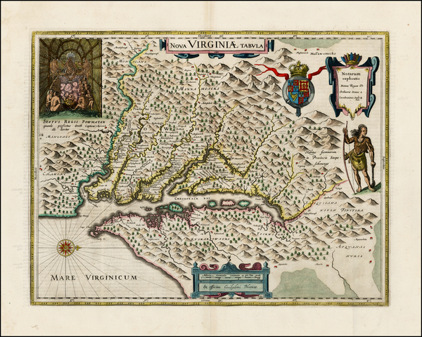 20-Mid-Atlantic and Southeast Map By Willem Janszoon Blaeu