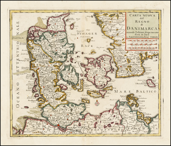 61-Scandinavia Map By Giambattista Albrizzi