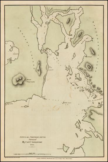 7-Alaska Map By Yuri Federovich Lisiansky