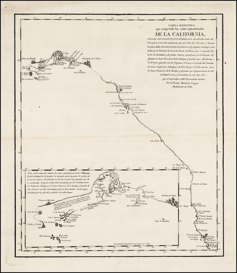 13-Alaska and California Map By Tomás López