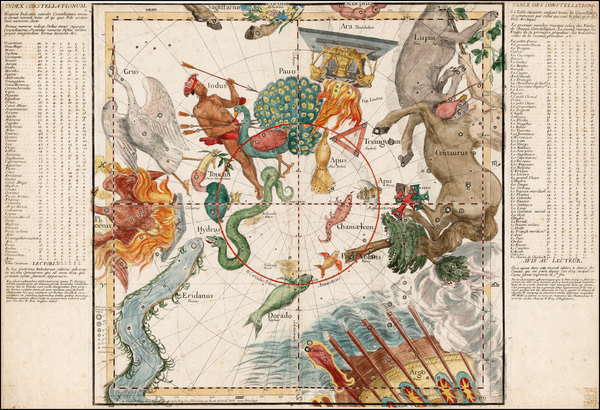 Celestial Maps Map By Ignace Gaston Pardies