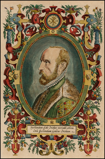 79-Portraits & People Map By Abraham Ortelius
