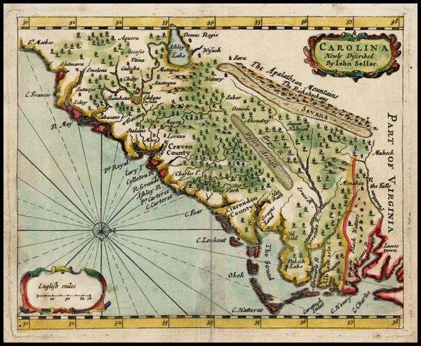 82-Southeast Map By John Seller