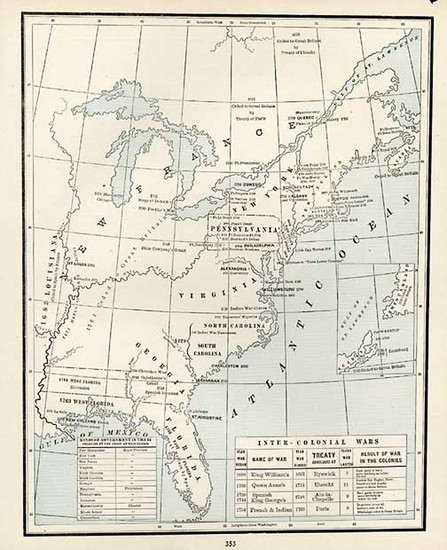 43-Mid-Atlantic and Southeast Map By George F. Cram