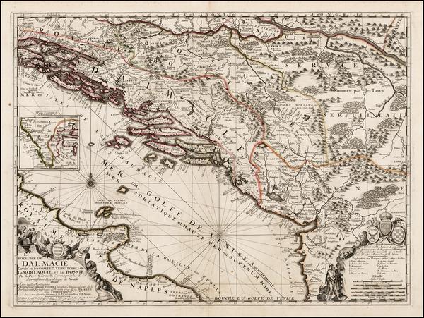 9-Balkans, Bosnia & Herzegovina and Italy Map By Jean-Baptiste Nolin