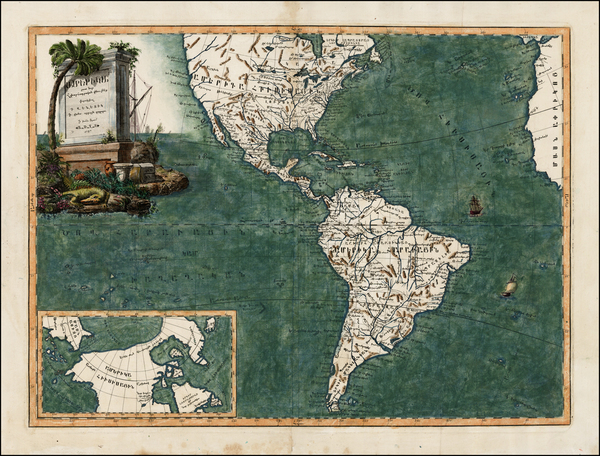 61-North America, South America and America Map By Elia Endasian