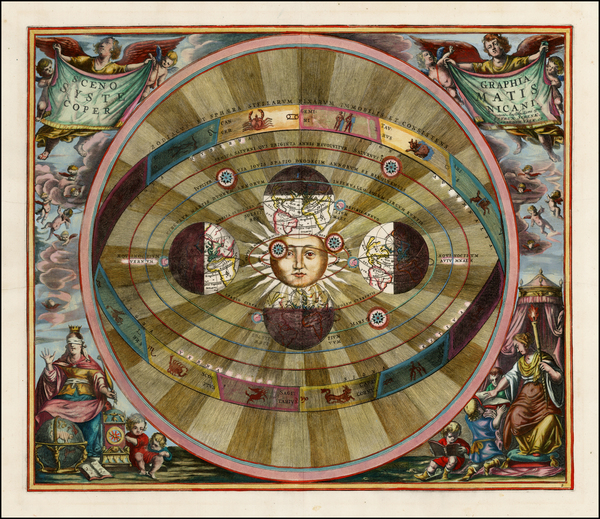 30-Curiosities and Celestial Maps Map By Andreas Cellarius