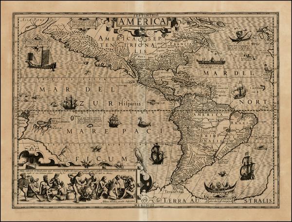 64-Western Hemisphere, South America, Australia & Oceania, Australia, Oceania and America Map