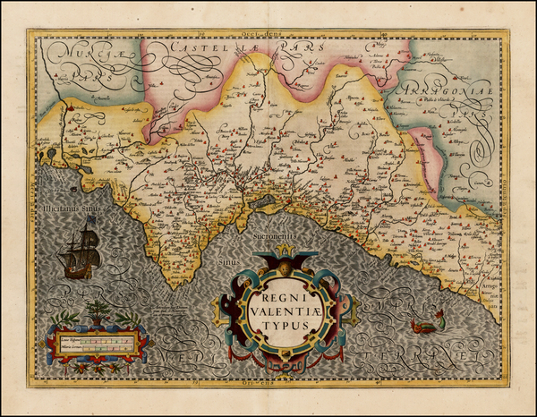 0-Spain Map By Henricus Hondius
